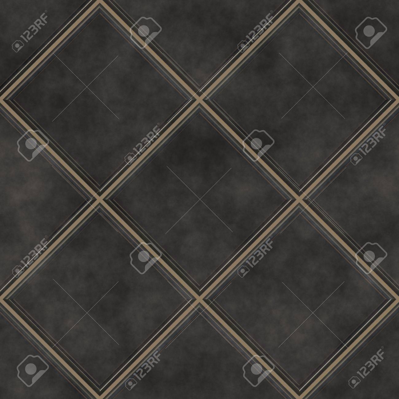 Nahtlose Schwarzen Fliesen Textur Hintergrund, Küche Oder Bad Konzept  Standard Bild