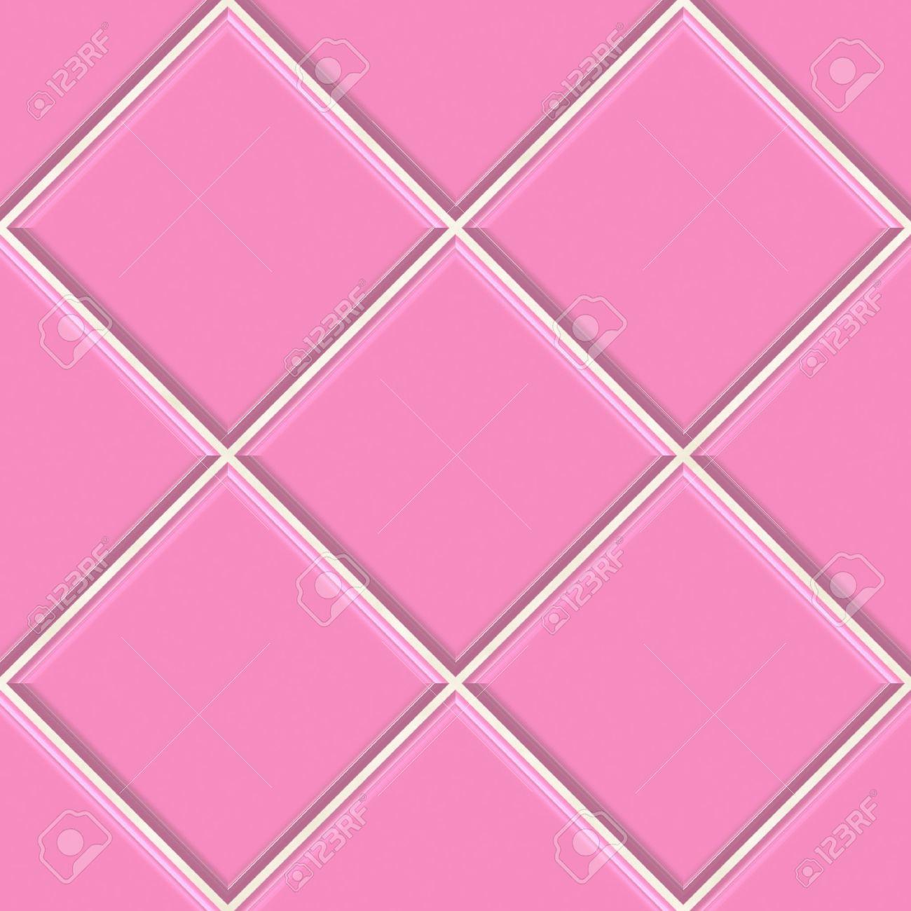 GroBartig Nahtlose Rosa Fliesen Textur Hintergrund, Küche Oder Bad Konzept  Standard Bild   7306518