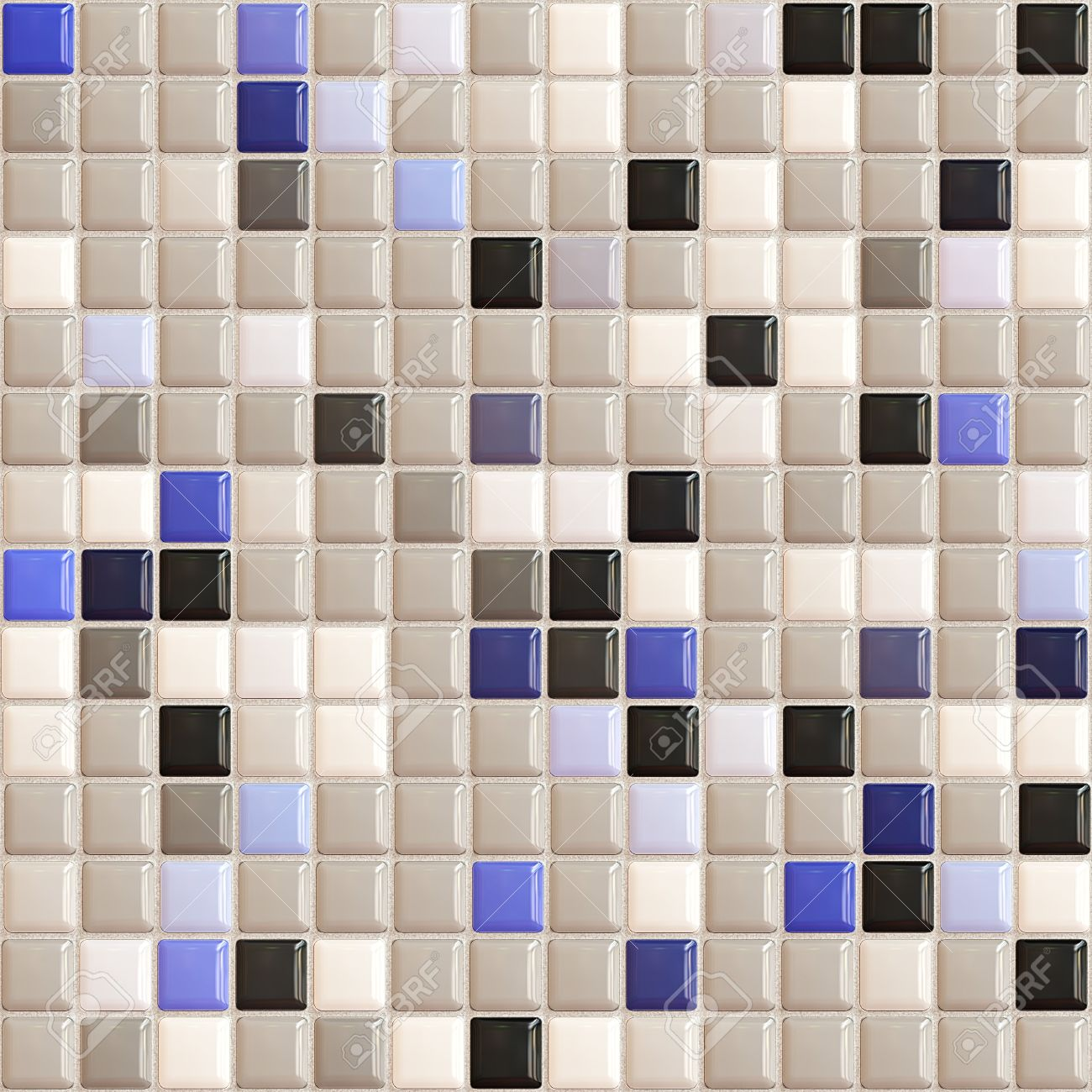 Bathroom tiles texture - Seamless Small Tiles Texture Stock Photo 9817527
