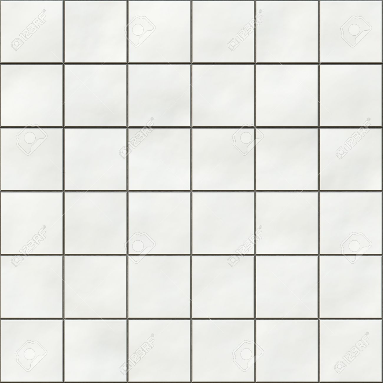 Bathroom tiles texture - Seamless White Square Tiles Texture Stock Photo 7306510