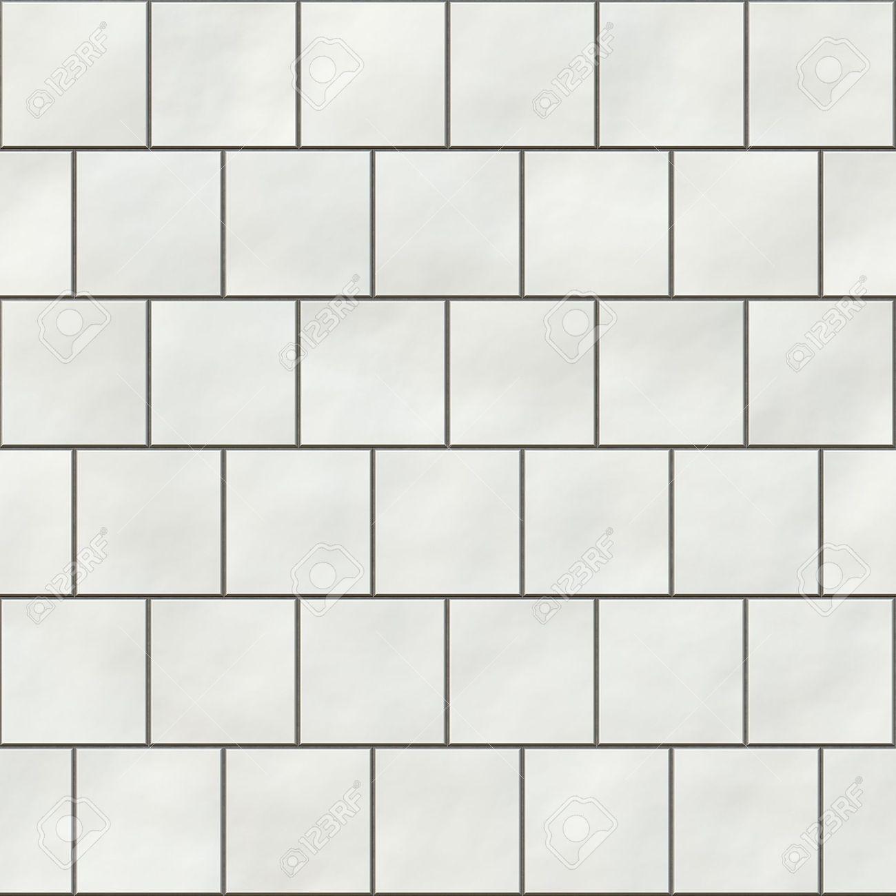 Bathroom White Tiles Texture Seamless Seamless White Square Tiles