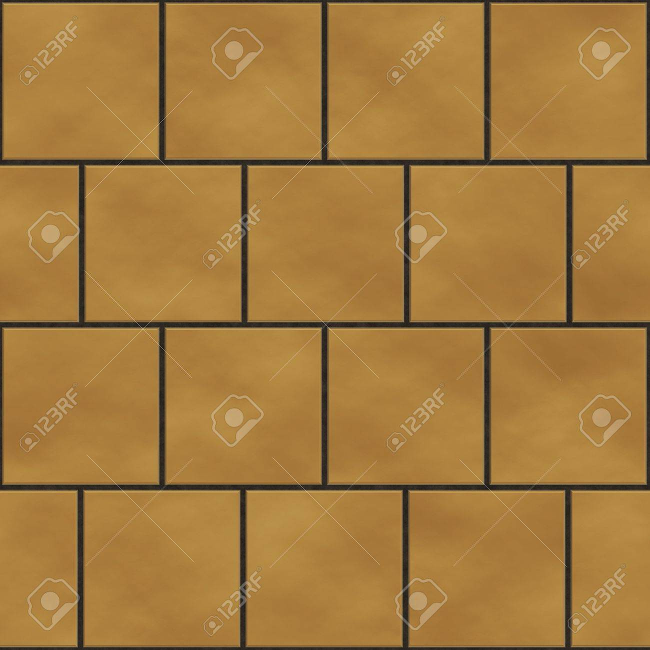 Seamless yellow  square tiles texture in an english style position Stock Photo - 7306520