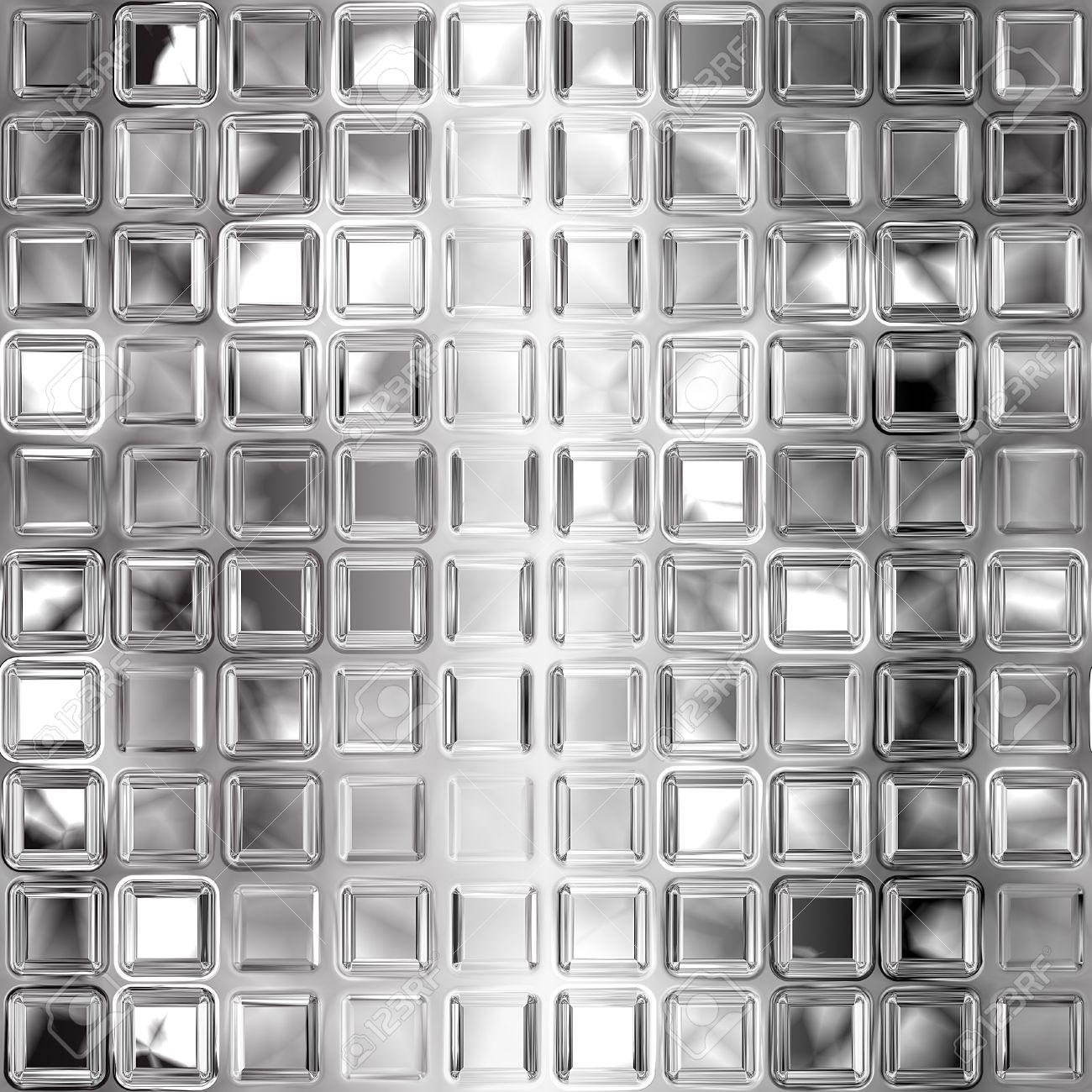 Seamless black and white glass tiles texture Stock Photo - 7450410