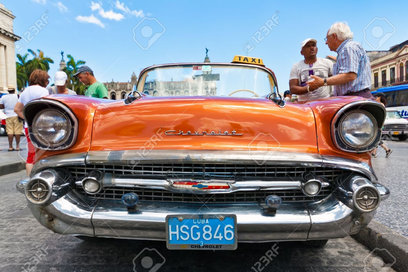 HAVANA-MAY 3:Front View Of An Old Chevrolet May 3,2011 In Havana ...