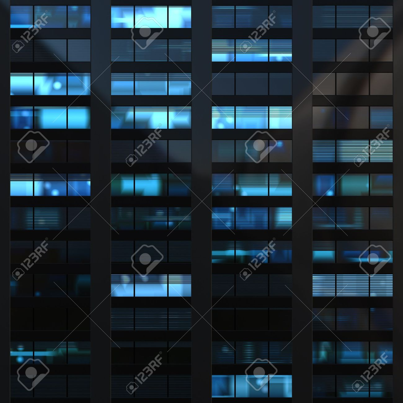 Seamless texture resembling skyscrapers windows at nigh Stock Photo - 10437390