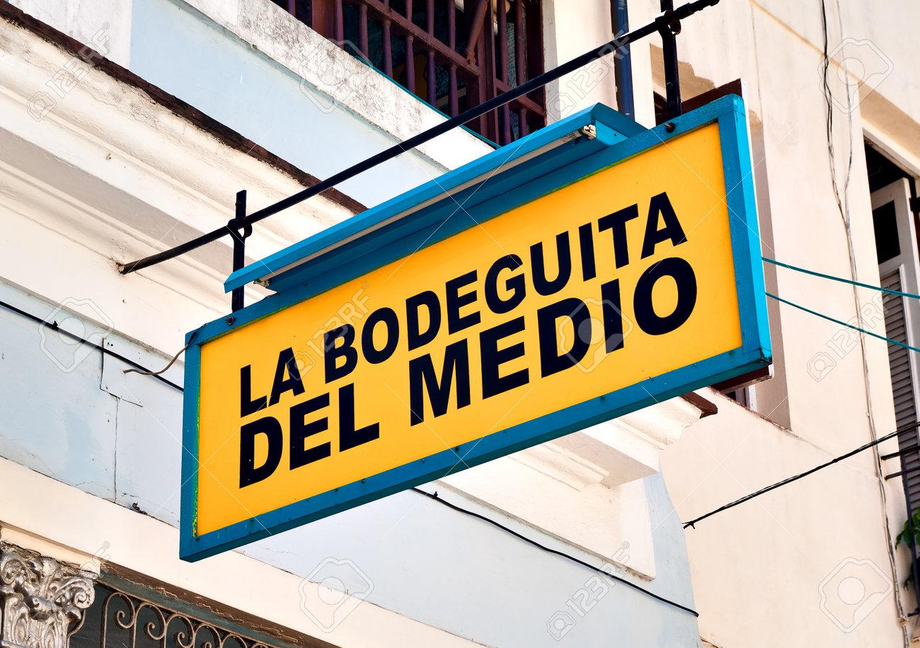 HAVANA-OCTOBER 20:La Bodeguita del Medio October 20,2011 in Havana.Since its opening in 1942,this famous restaurant has been a favourite of Ernest Hemingway and Pablo Neruda among other personalities Stock Photo - 11543136