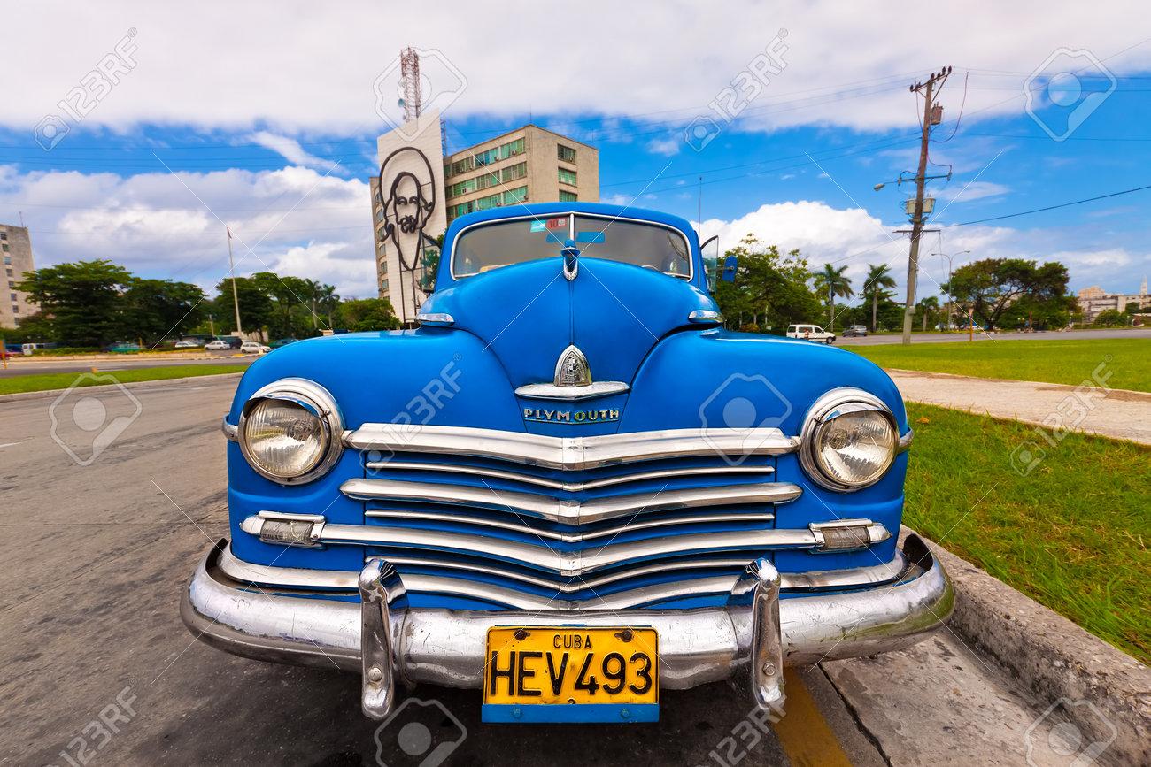 HAVANA-NOVEMBER 3:Classic Plymouth November 3,2011 In Havana.Before ...