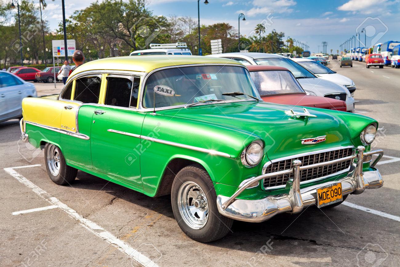 Old classic car 1955 Chevrolet in Havana Stock Photo - 12017737