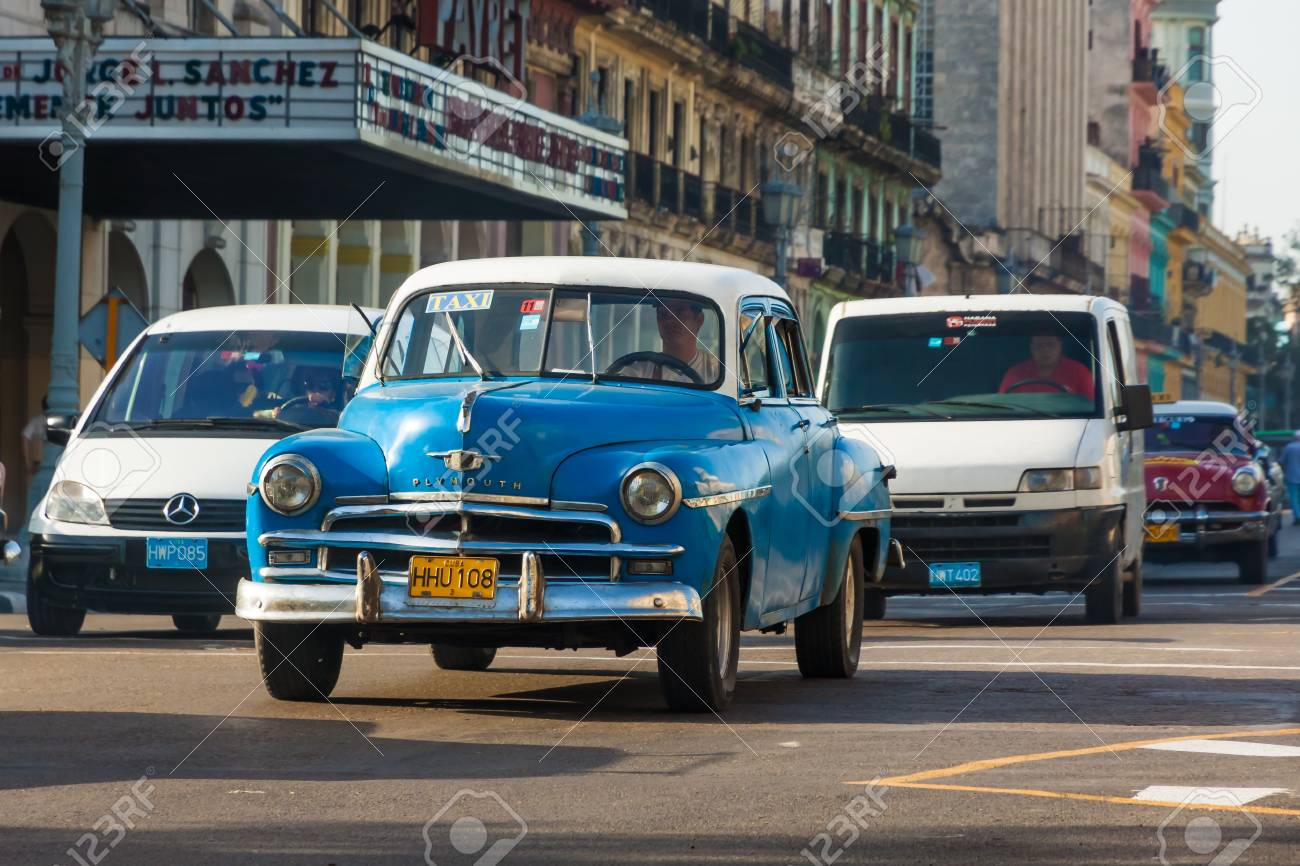 Old Plymouth August In Havana Stock Photo, Picture And Royalty ...