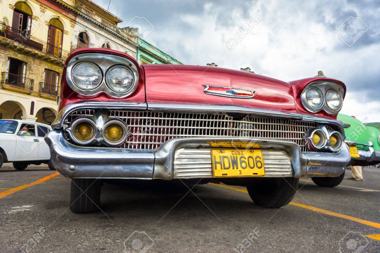 Low angle view of an old Chevrolet in Havana Thousands of these