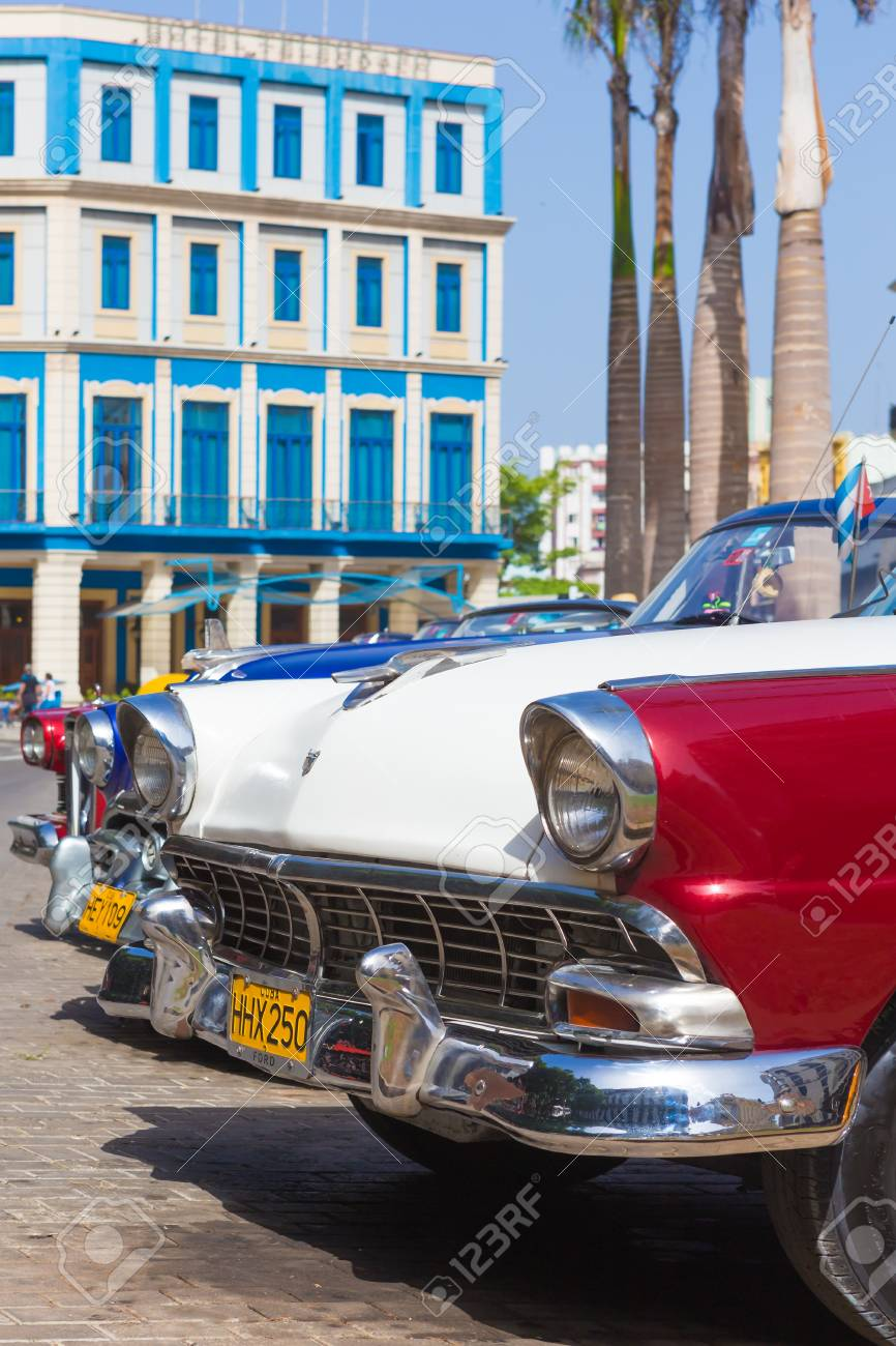 Classic car and other vintage american cars on June 21, 2013 in Havana Stock Photo - 20449603