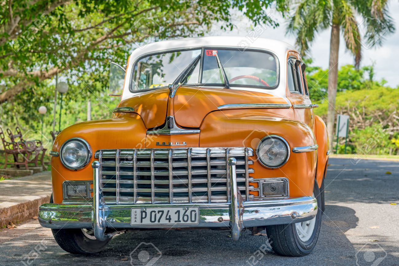 Beautifully Restored Old Classic Dodge Car In Havana These Antique ...