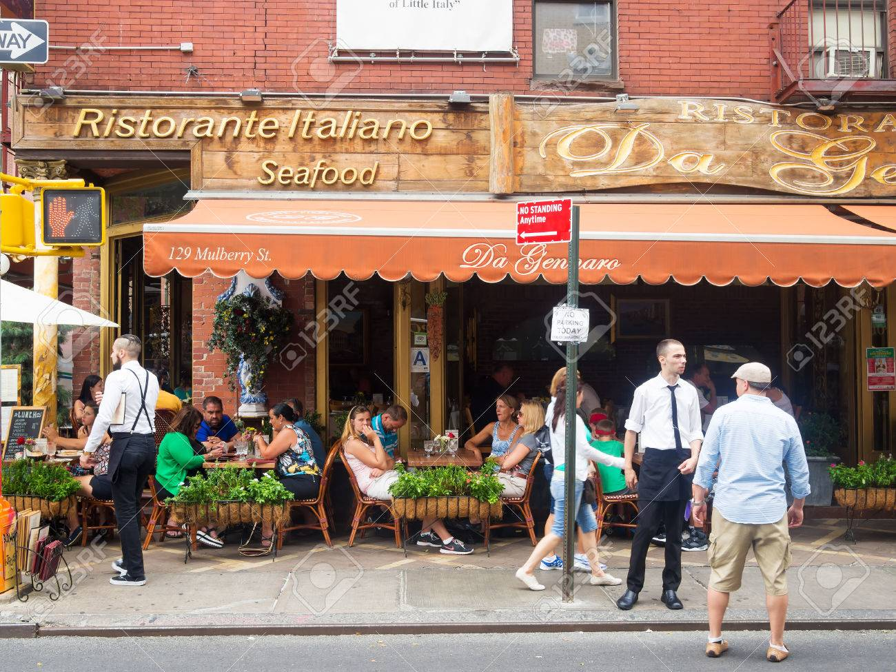Traditional Italian Restaurant At Historic Little Italy In New