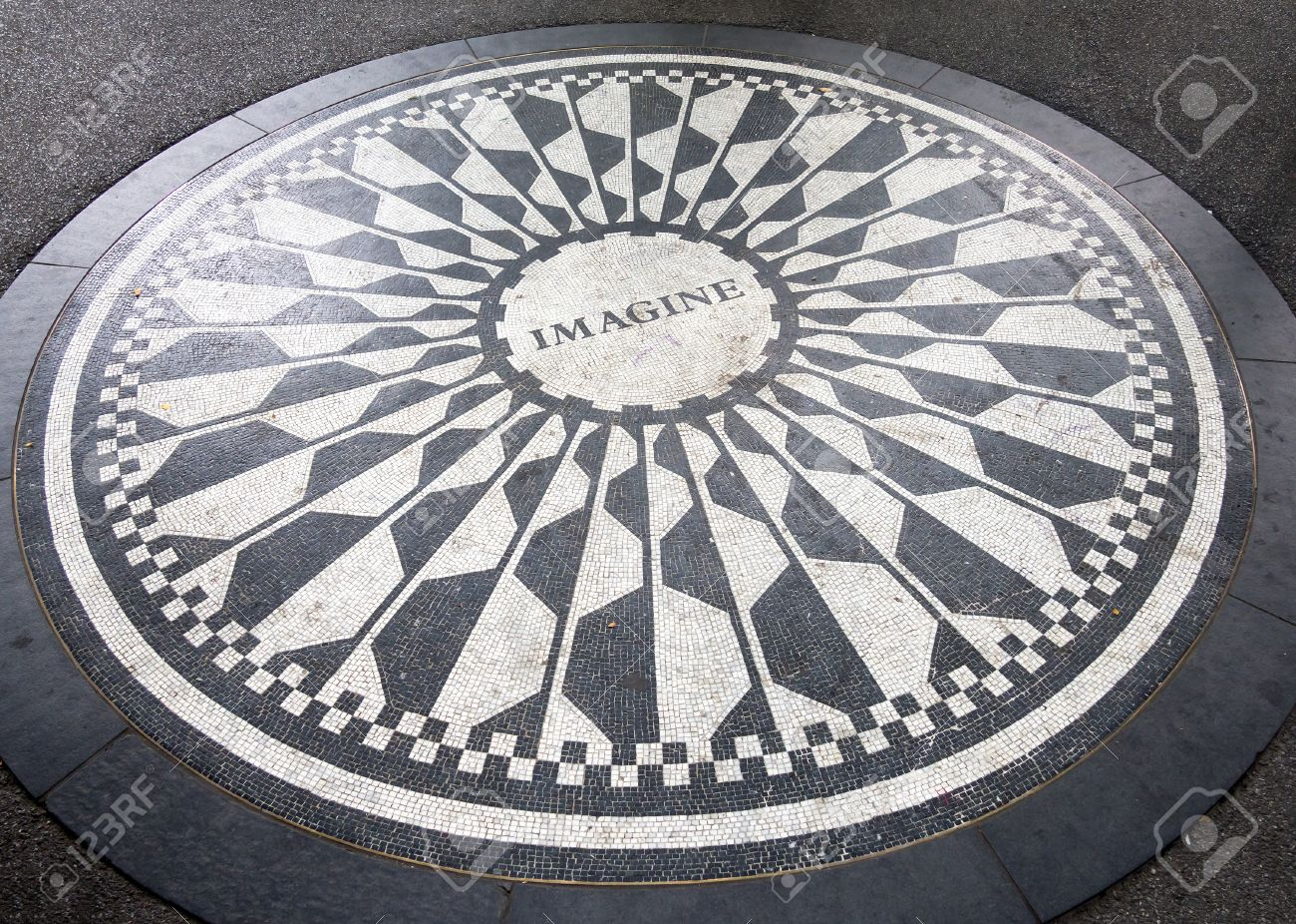 The imagine mosaic dedicated to john lennon at strawberry fields the imagine mosaic dedicated to john lennon at strawberry fields in central park new york buycottarizona