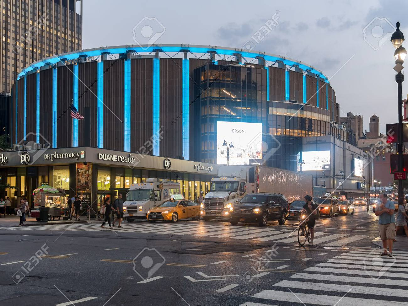 The Madison Square Garden in New York City at night - 48263888