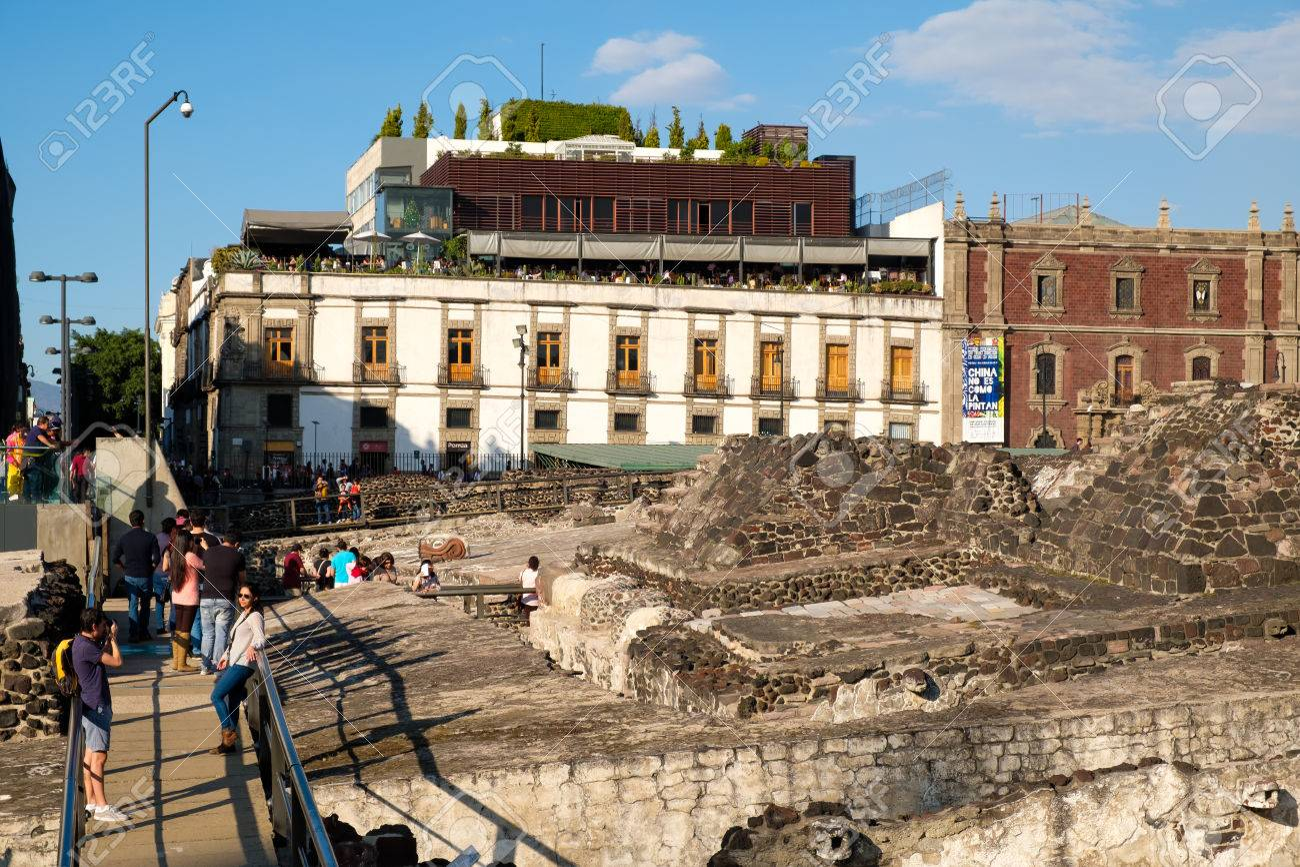 アステカの首都テノチティトラン...