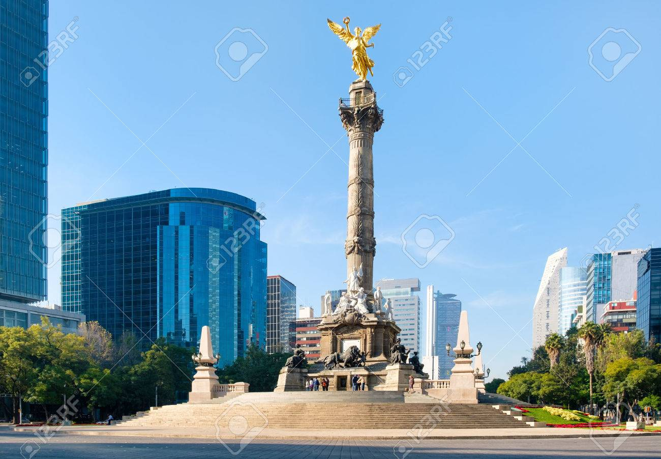 The Angel of Independence and the Paseo de La Reforma in Mexico City - 68562258