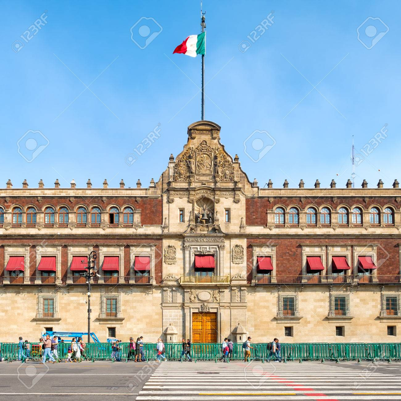 The National Palace next to the Zocalo in Mexico City - 68766950