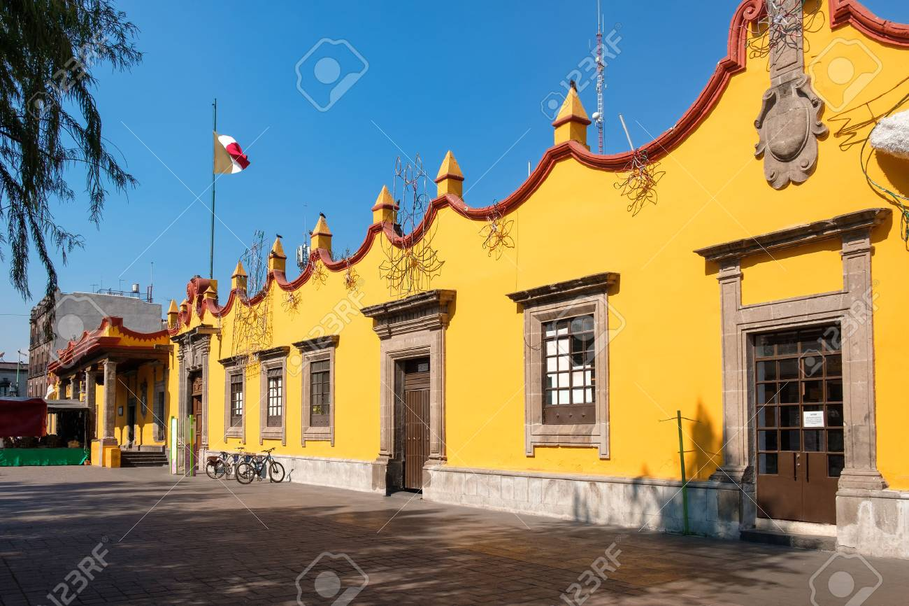 The colonial Town Hall Palace at Coyoacan in Mexico City - 69985193