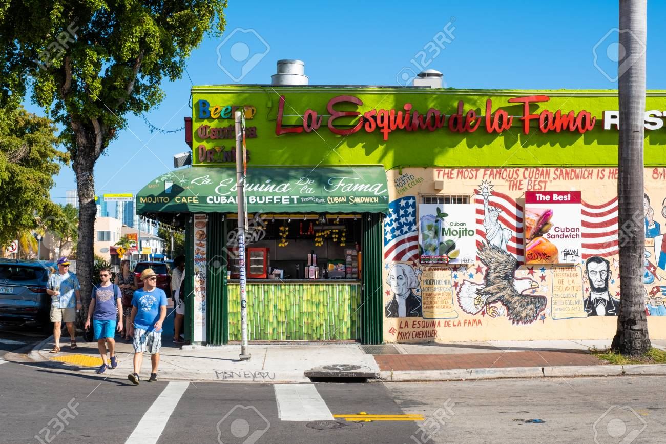 Miami United States December 3 2018 Typical Cuban Restaurant