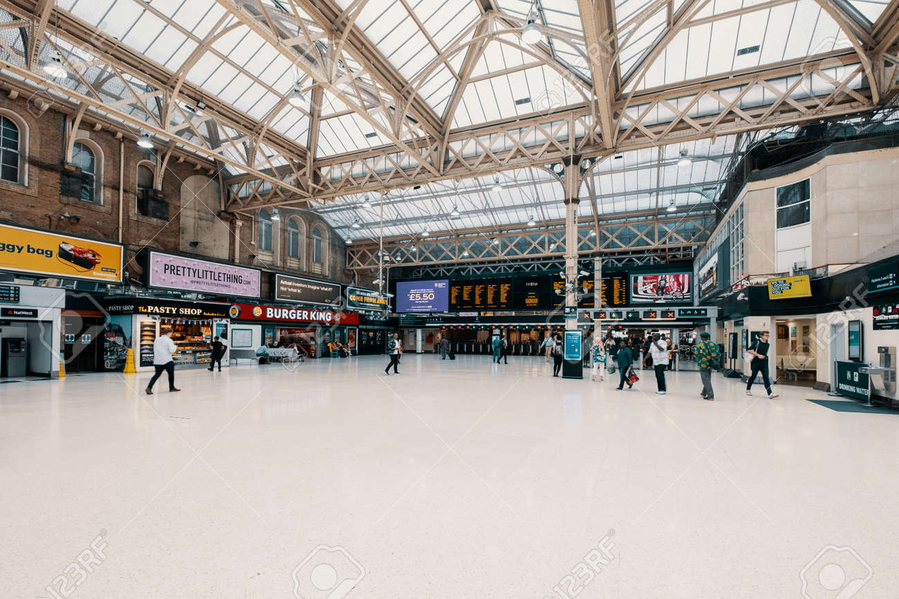 The Charing Cross railway station in central London - 150065302