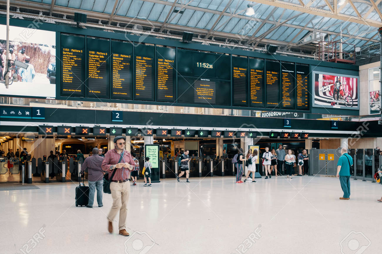 The Charing Cross railway station in central London - 150065205