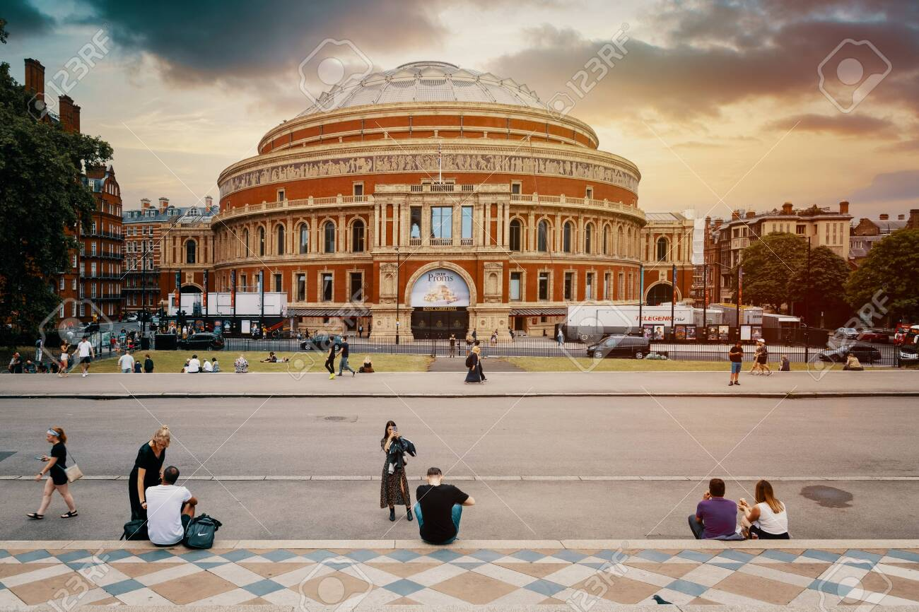 The Royal Albert Hall at sunset in London - 150041663