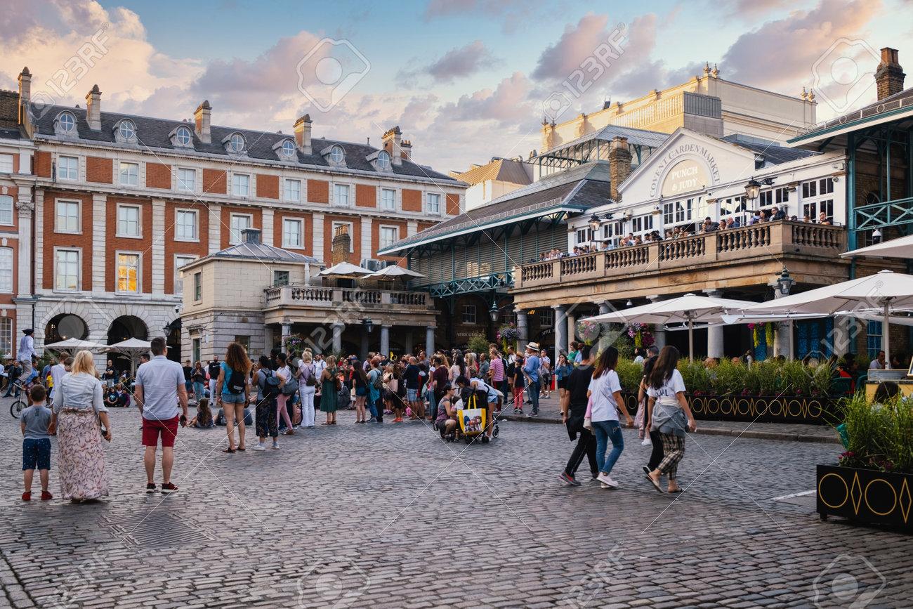 LONDON,UK - JULY 29,2019 : The famous Covet Garden Market in London at sunset - 150041687