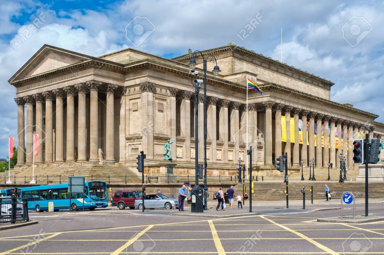 St George's Hall, a symbol of the city of Liverpool - 150299023