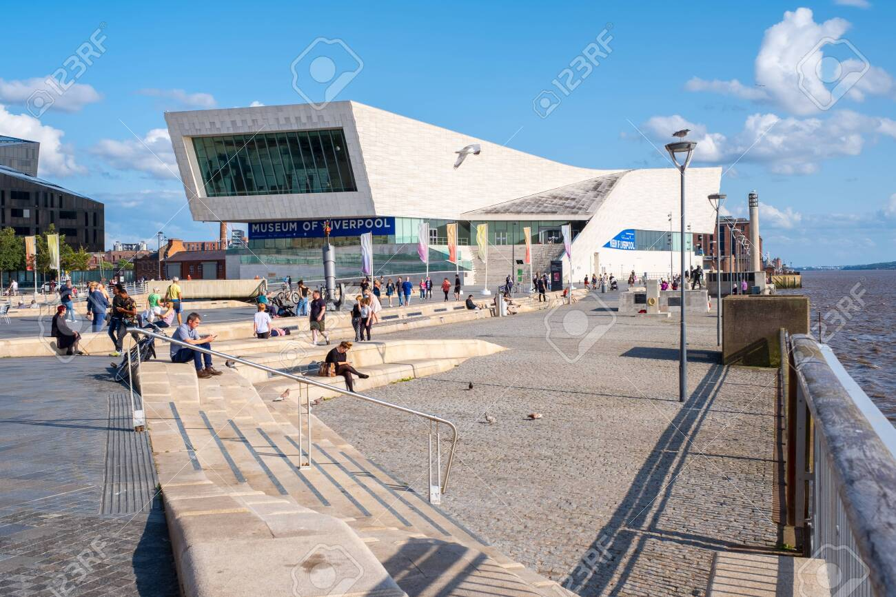 The Museum of Liverpool at the Pier Head next to the Mersey River - 150299028