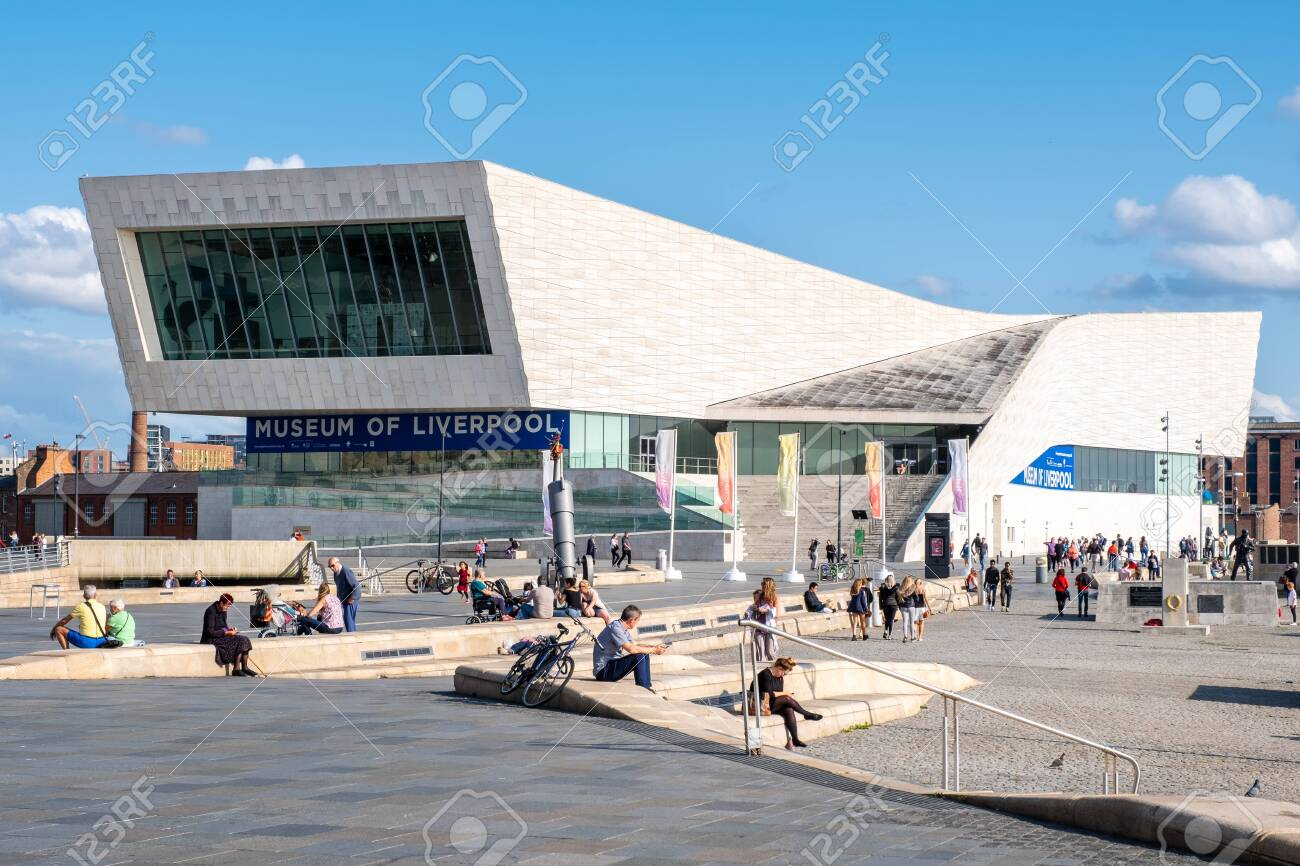 The Museum of Liverpool at the Pier Head next to the Mersey River - 150299040