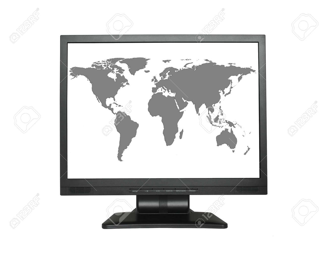 World map in wide lcd screen no copyright infringement stock photo stock photo world map in wide lcd screen no copyright infringement gumiabroncs Choice Image