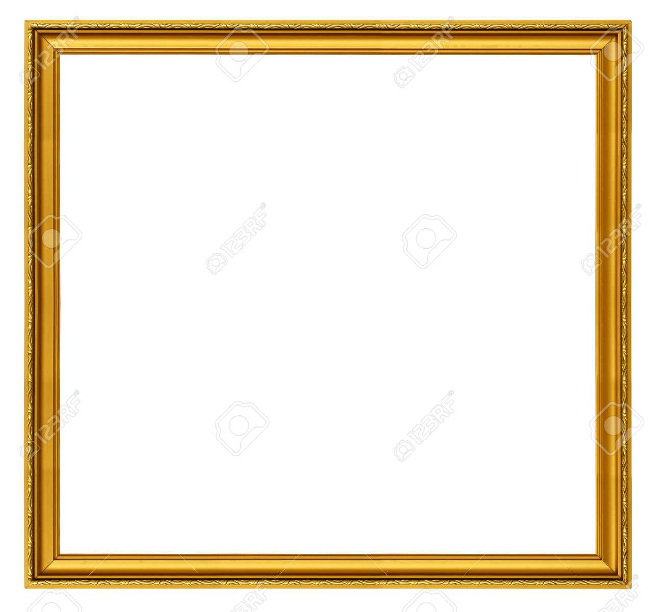 Größe XXL Goldene Quadrat Auf Weißem Rahmen Isoliert Lizenzfreie ...