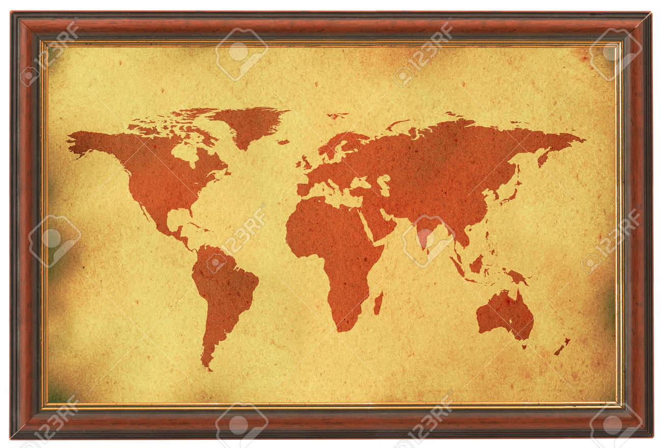 Old world map in wooden frame stock photo picture and royalty free old world map in wooden frame stock photo 726666 gumiabroncs Image collections