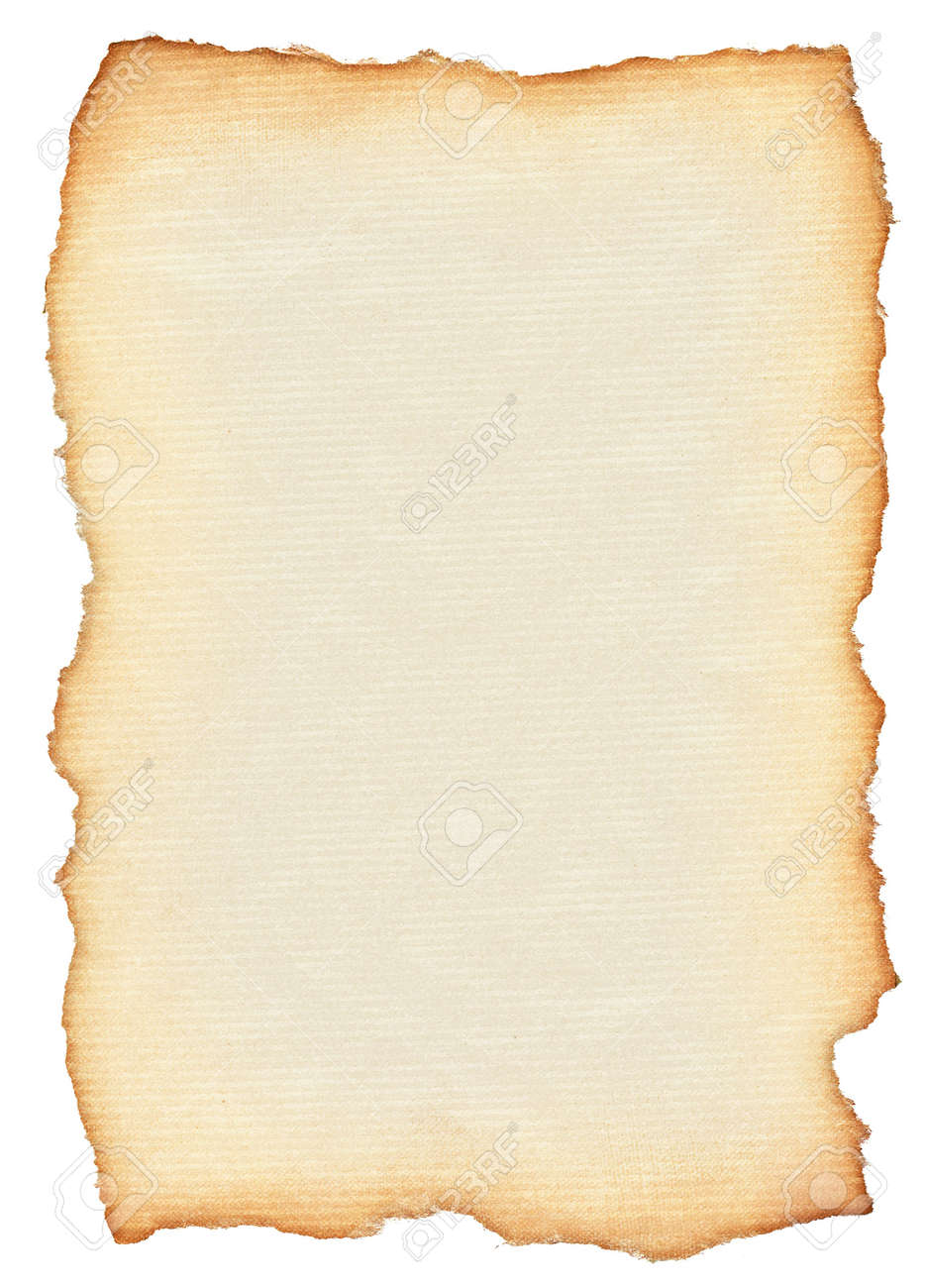 Ongekend Scroll Isolated On Pure White Background, Edges Are Very Rough KS-81