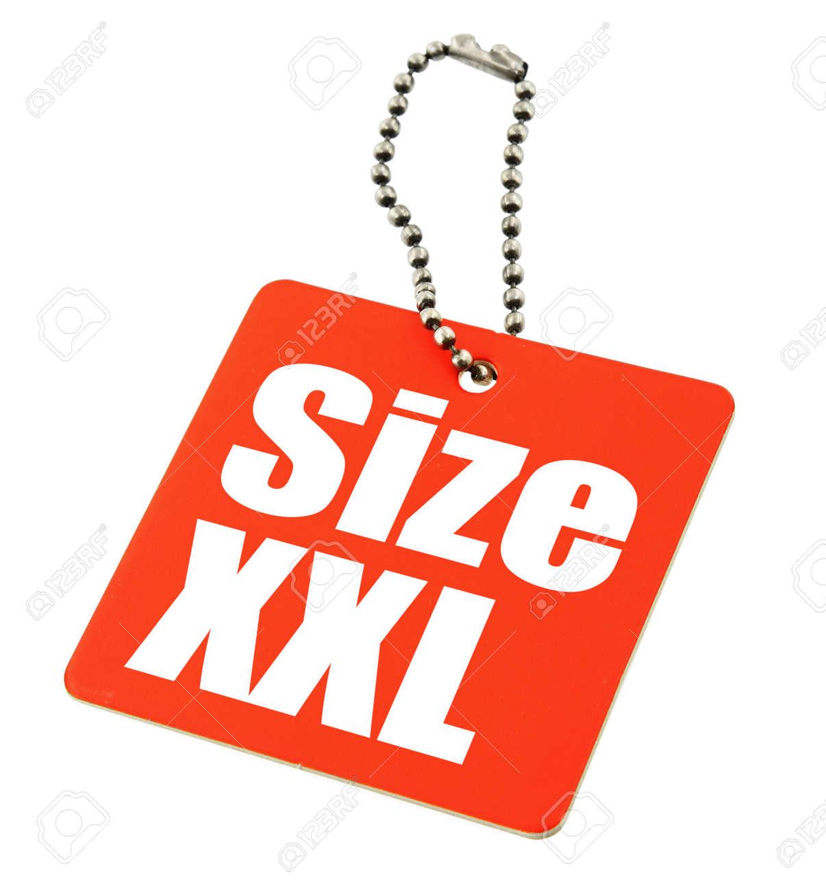 XXL Size Tag isolated on white background, the photo does not infringe any copyright Stock Photo - 2558328