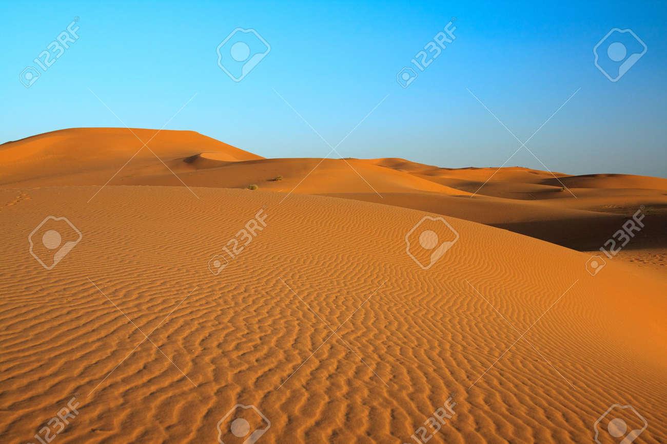 sunset over sahara desert (Morocco) Stock Photo - 5048561