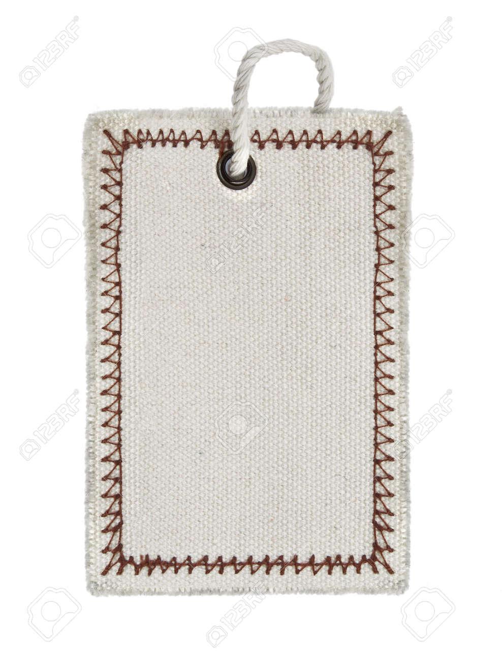 empty tag on pure white backgroundwhite background Stock Photo - 5848938