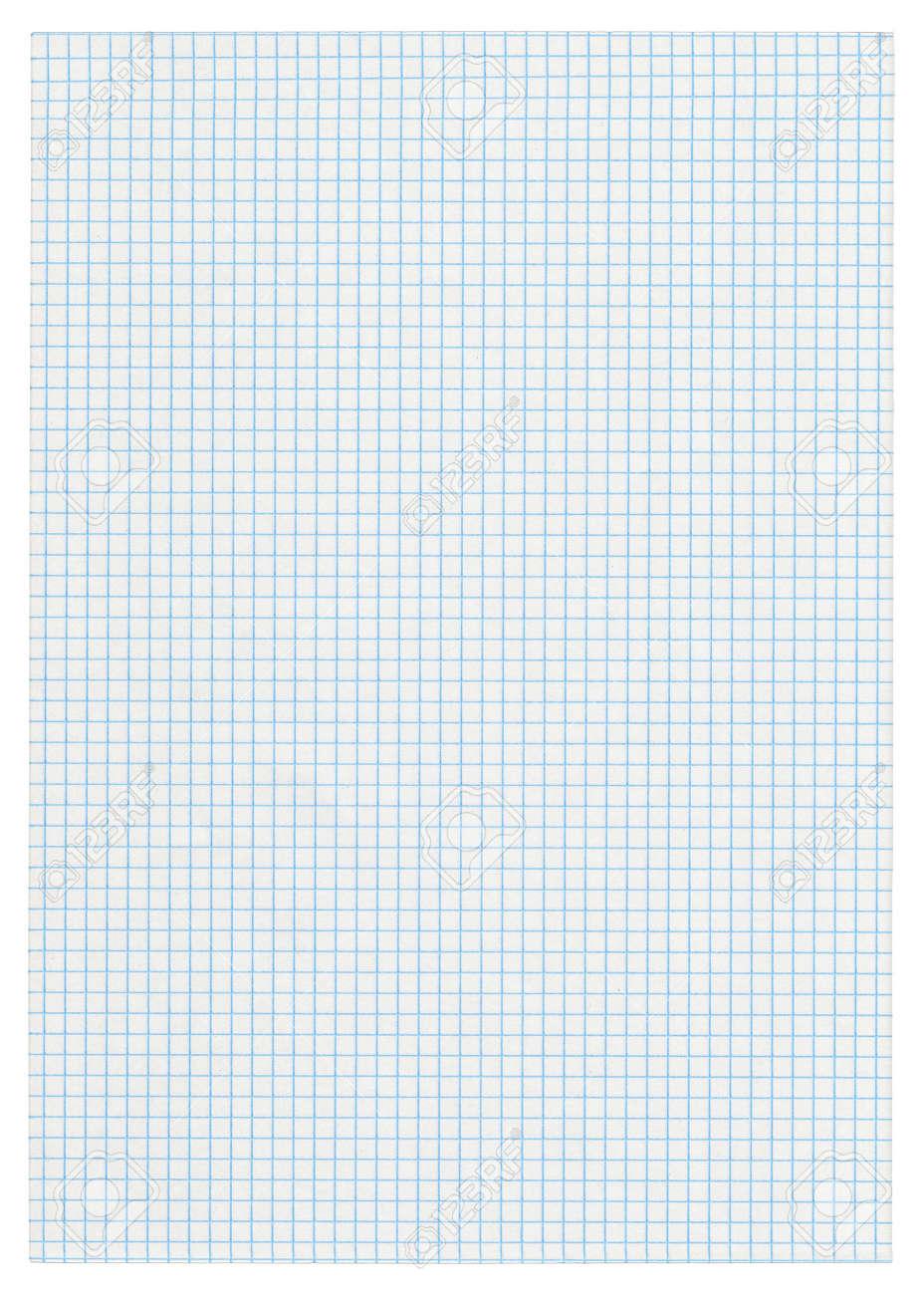 XXXL size piece of squared paper on white background Stock Photo - 5913802
