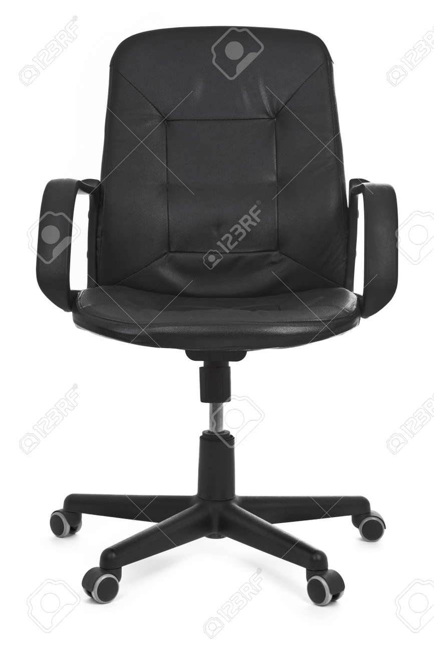 leather chair on white background, minimal natural shadow under it Stock Photo - 8278800