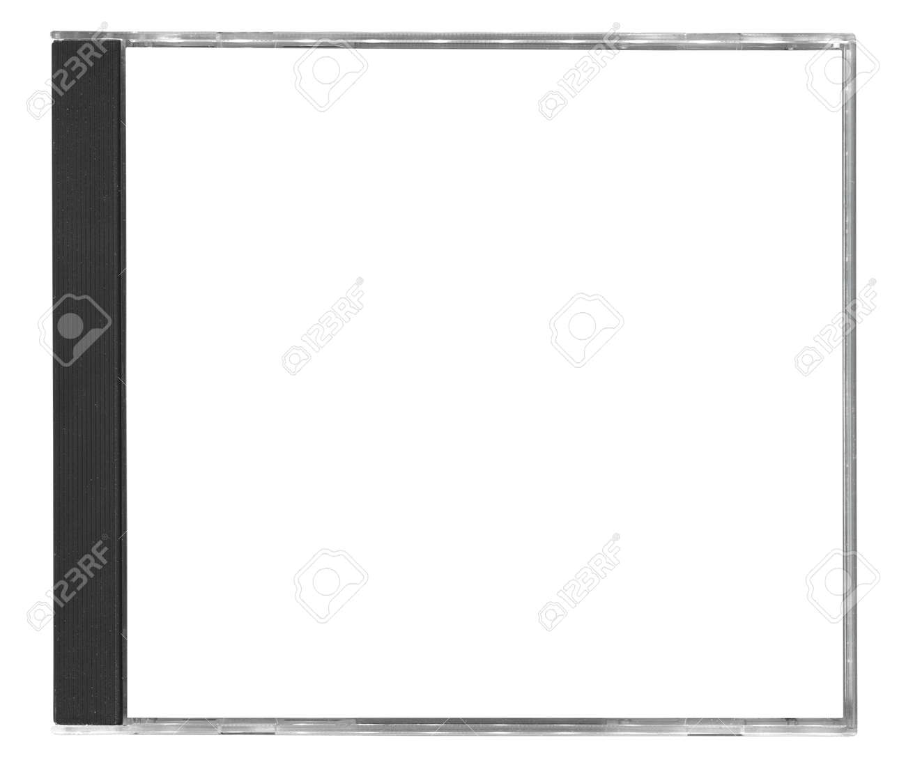 Blank Cd Cover Isolated On White Background Stock Photo, Picture ...