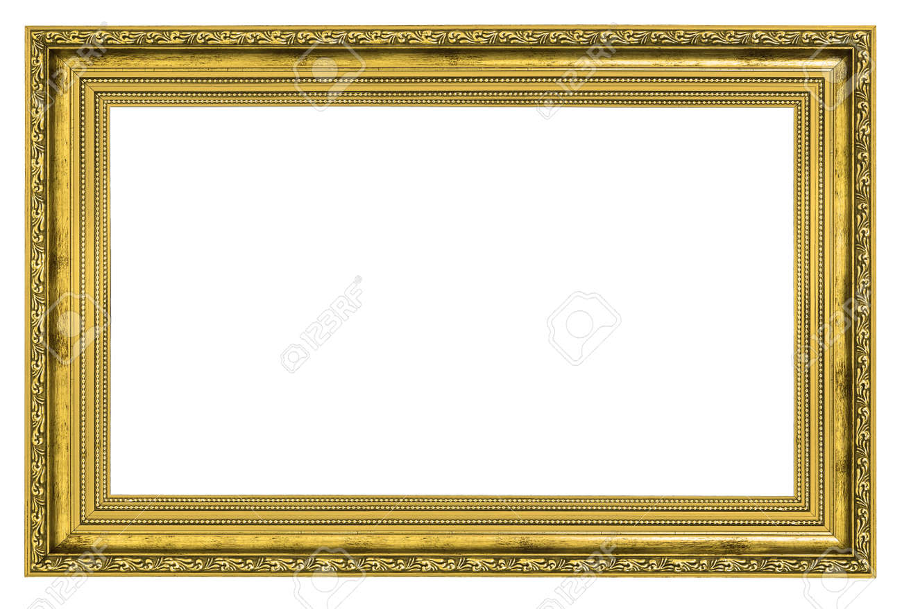 Gilded Frame With Thick Border Isolated On White Background Stock ...