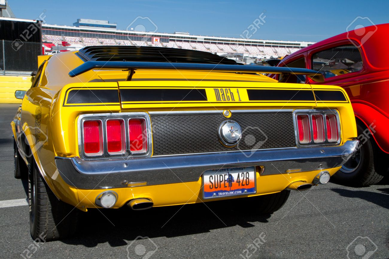 Concord nc april 11 2015 a 1970 ford mustang mach 1 automobile on display