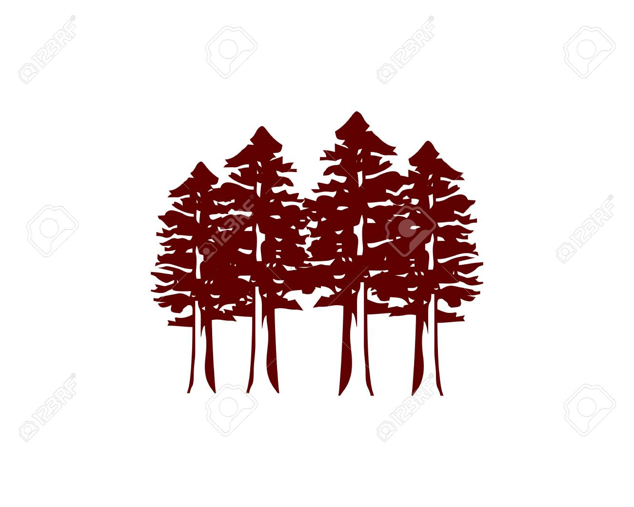 Redwood Forest Icon Royalty Free Cliparts Vectors And Stock