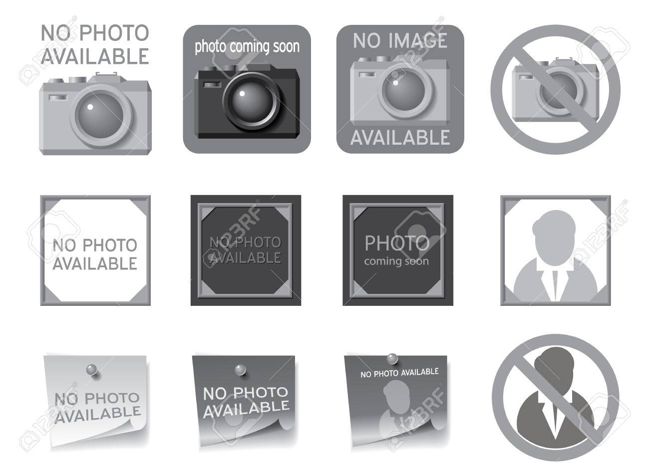 Icons to fill the seat of missing photos Vector illustration - 28010207