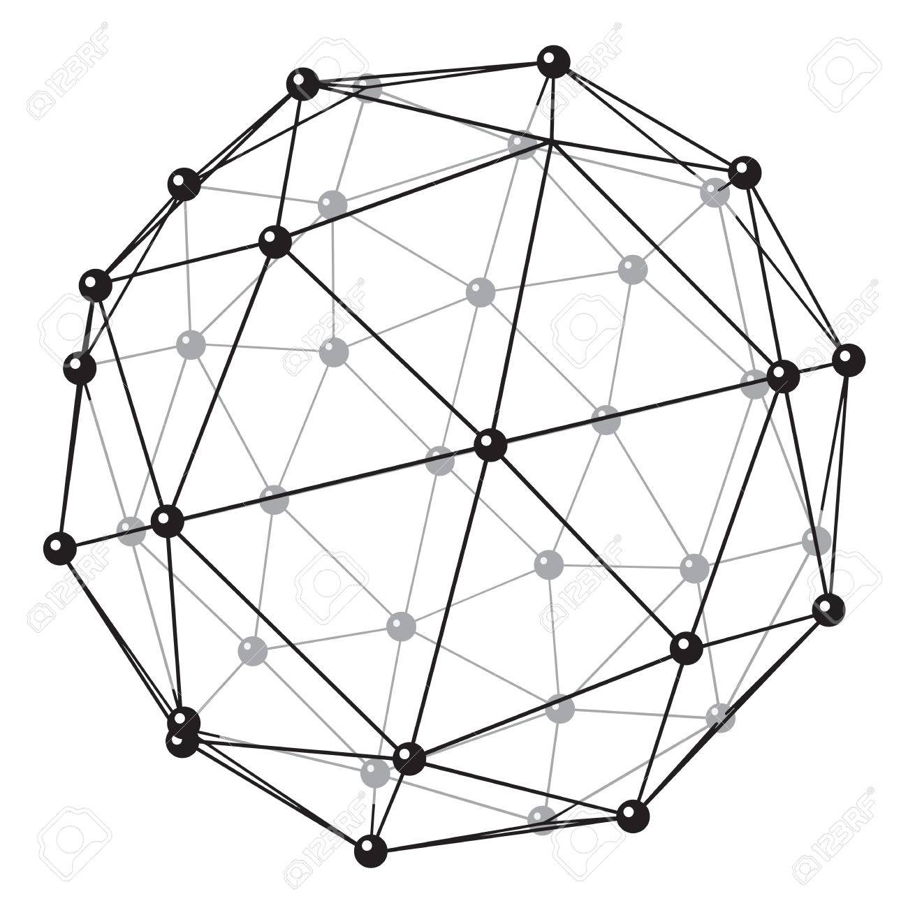 The stylized image of the crystal lattice of a some substance
