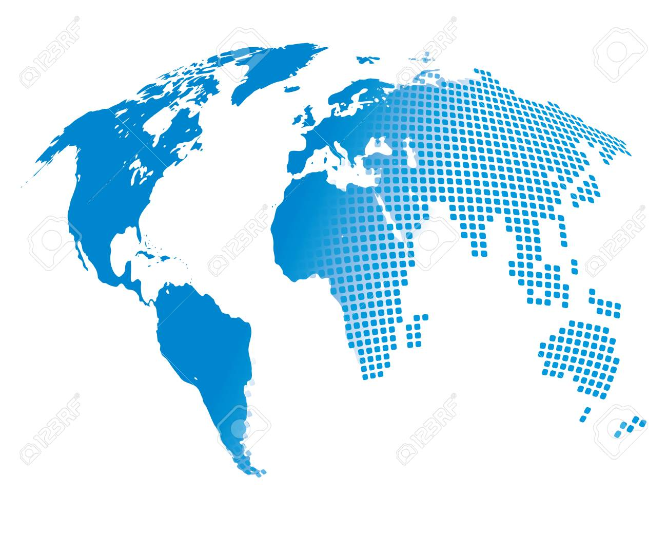 Stylized image of the world map vector illustration stock photo stylized image of the world map vector illustration stock illustration 55218938 sciox Image collections