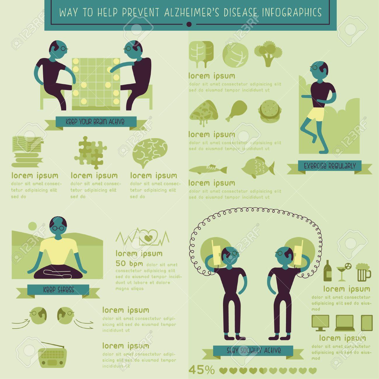 Way to help prevent alzheimer disease info-graphic - 28080245