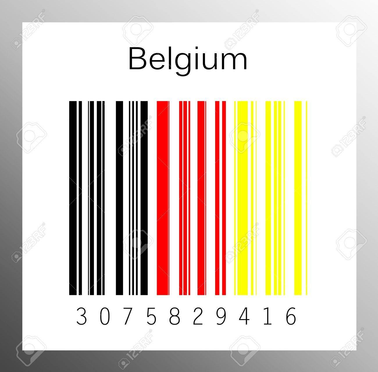 Barcode Belgium Stock Photo - 15890903
