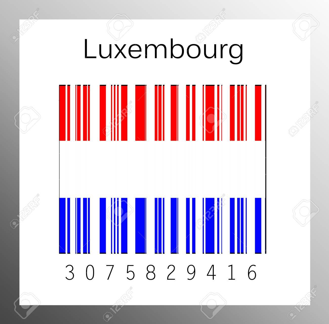 Barcode Luxembourg Stock Photo - 15936617